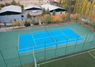 Tennis court and athletic facility